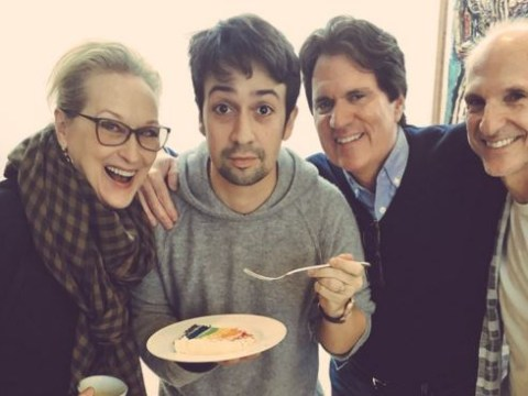 Lin-Manuel Miranda shares birthday snap with Meryl Streep ahead of filming for Mary Poppins Returns