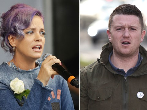 Lily Allen hints at legal action against Tommy Robinson after Twitter row