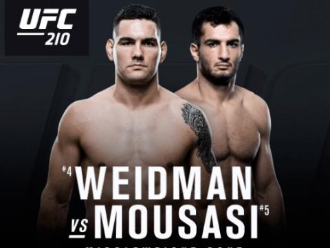 Gegard Mousasi to take on former middleweight king Chris Weidman at UFC 210