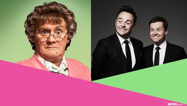 Does Mrs Brown's Boys really stand a chance of beating Ant And Dec's Saturday Night Takeaway? credit getty/Metro