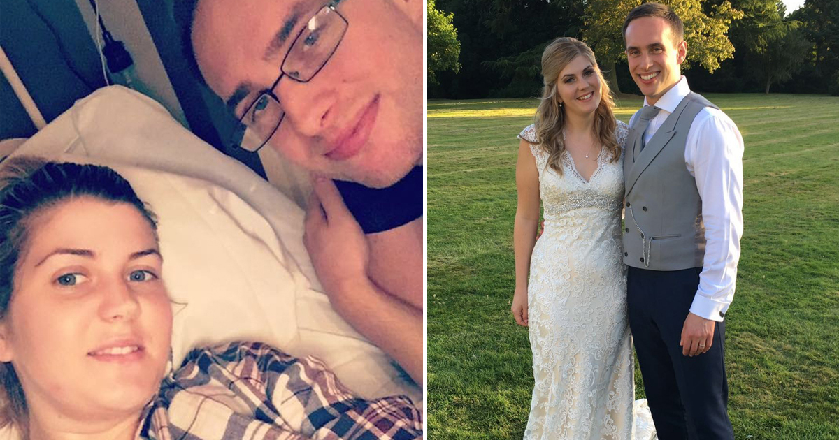 Newlyweds forced to go celibate after bride was diagnosed with cervical cancer just FIVE days after returning from honeymoon