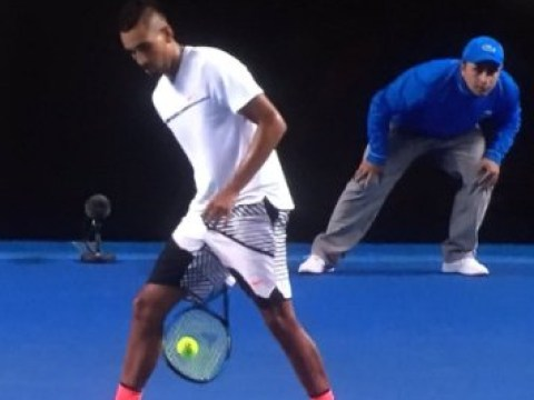 Nick Kyrgios hits the most nonchalant tweener of all-time during defeat to Andreas Seppi