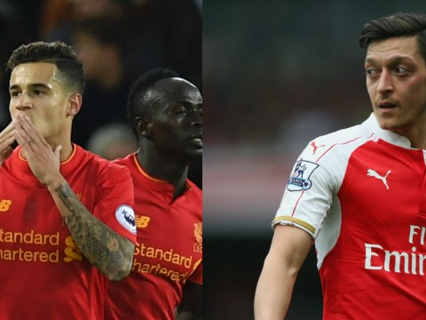 Arsenal star Mesut Ozil behind Liverpool's Philippe Coutinho in attacking midfielder's world rankings