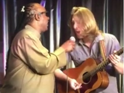 WATCH: Stevie Wonder hijacked a busker's performance of Superstition and they both nailed it