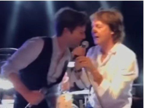 Sir Paul McCartney joined The Killers on New Year's Eve to sing Beatles track Helter Skelter live