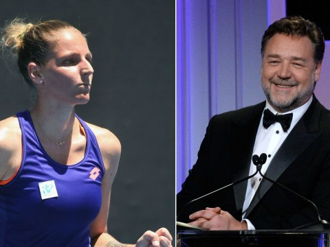 Russell Crowe randomly tips Kristyna Pliskova to be a 'champion' after Angelique Kerber loss