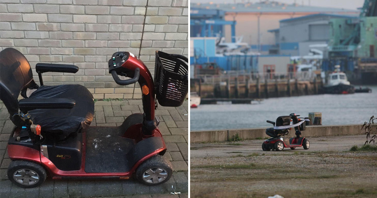 Abandoned mobility scooter found at edge of 50ft drop sparks police search