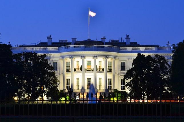 The White House at night - Washington DC, United States; Shutterstock ID 114757342