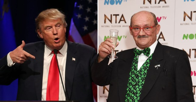 Brendan O'Carroll (R) could be making a documentary about US president Donald Trump (Picture: Getty)