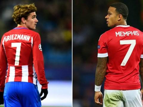 Manchester United fans tell Antoine Griezmann to claim the No.7 shirt following Memphis Depay's departure