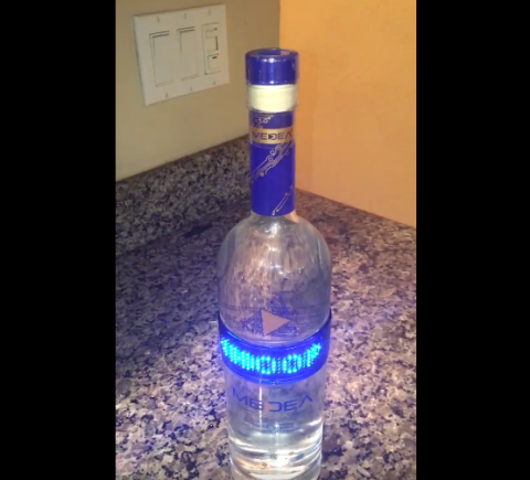 A mum wrote an inspiring and brutal message for her son on a vodka bottle