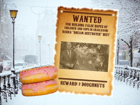 Police issue wanted poster for weatherman after failed snow forecast