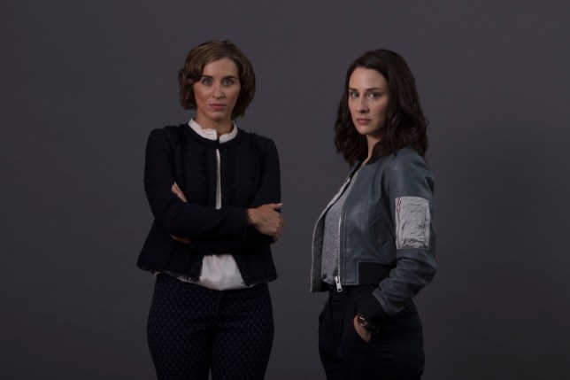Programme Name: The Replacement - TX: n/a - Episode: n/a (No. n/a) - Picture Shows: Paula (VICKY McCLURE), Ellen (MORVEN CHRISTIE) - (C) left Bank - Photographer: Mark Mainz