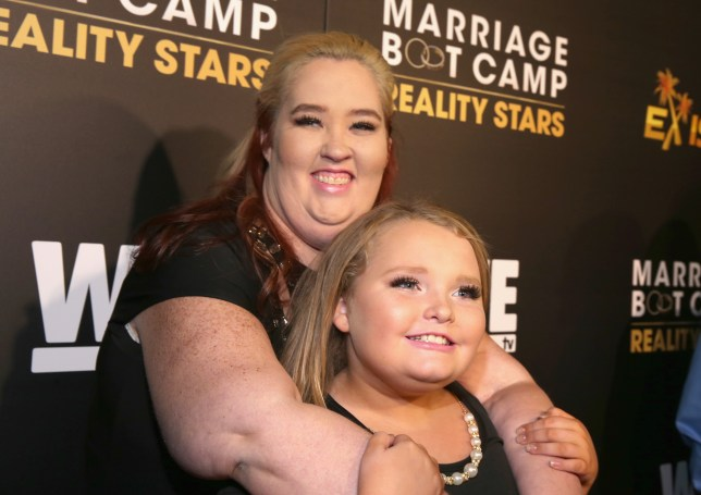 """LOS ANGELES, CA - NOVEMBER 19: TV personalities June """"Mama June"""" Shannon (L) and Alana """"Honey Boo Boo"""" Thompson attend the WE tv premiere of """"Marriage Boot Camp"""" Reality Stars and """"Ex-isled"""" on November 19, 2015 in Los Angeles, California. (Photo by Jonathan Leibson/Getty Images for WE tv)"""