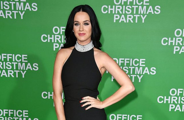 """WESTWOOD, CA - DECEMBER 07: Katy Perry arrives at the Premiere Of Paramount Pictures' """"Office Christmas Party"""" at Regency Village Theatre on December 7, 2016 in Westwood, California. (Photo by Steve Granitz/WireImage)"""