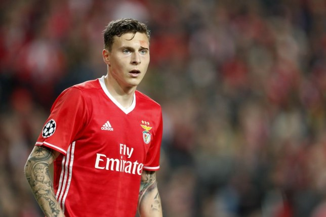 Victor Lindelof of SL Benficaduring the UEFA Champions League round of 16 match between SL Benfica and Borussia Dortmund on February 14, 2017 at Estádio da Luz in Lisbon, Portugal(Photo by VI Images via Getty Images)