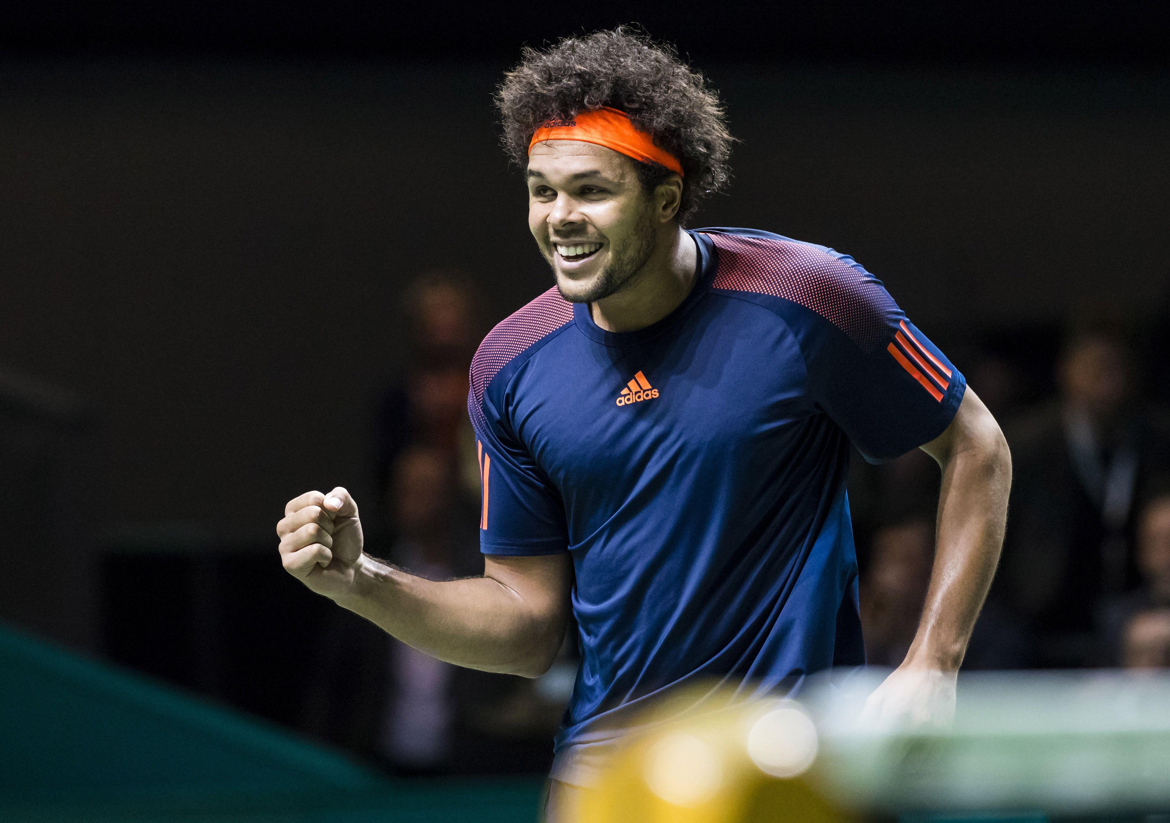 Jo-Wilfried Tsonga rallies to brush aside David Goffin at the Rotterdam Open final