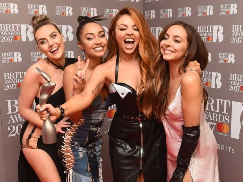 Little Mix finally get their hands on the Brit award they won back in February
