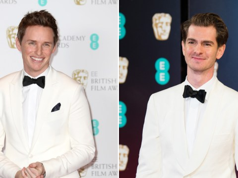 Fashion crisis! Eddie Redmayne and Andrew Garfield turn up to the 2017 BAFTAs in the same suit