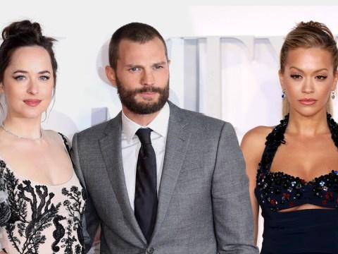 Jamie Dornan and Dakota Johnson hit the red carpet for 50 Shades Darker