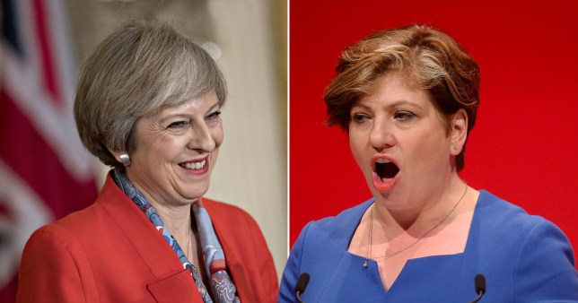 Theresa May called Emily Thornberry 'Lady Nugee' (Picture: Getty Images)
