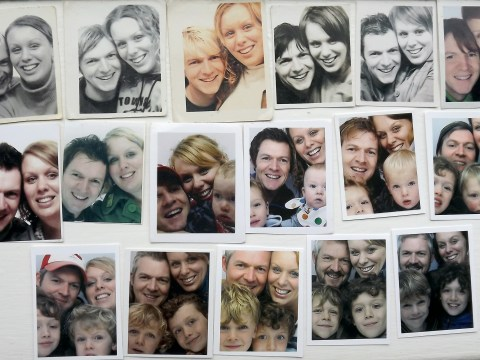 This couple have been taking photos in photobooths every year for sixteen years