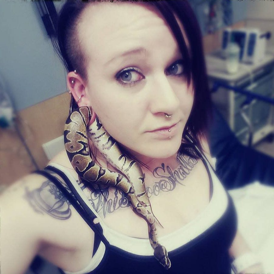 This woman got her pet snake stuck in her ear gauge, and the picture is exactly as insane as it sounds Life doesn't always go to plan. Like, we don't know, the recent viral news that a snake got caught in a woman's ear gauge! Her pet snake! Yup, we'll be back in a minute after we've finished screaming. Ashley Glawe is a parent to a Ball Python snake named Bart, and he recently crawled through her earlobe while she was holding him. And because he then got stuck, they both ended up in the hospital where doctors had to numb her ear and then stretch it out to extract Bart. Ummmmmm.