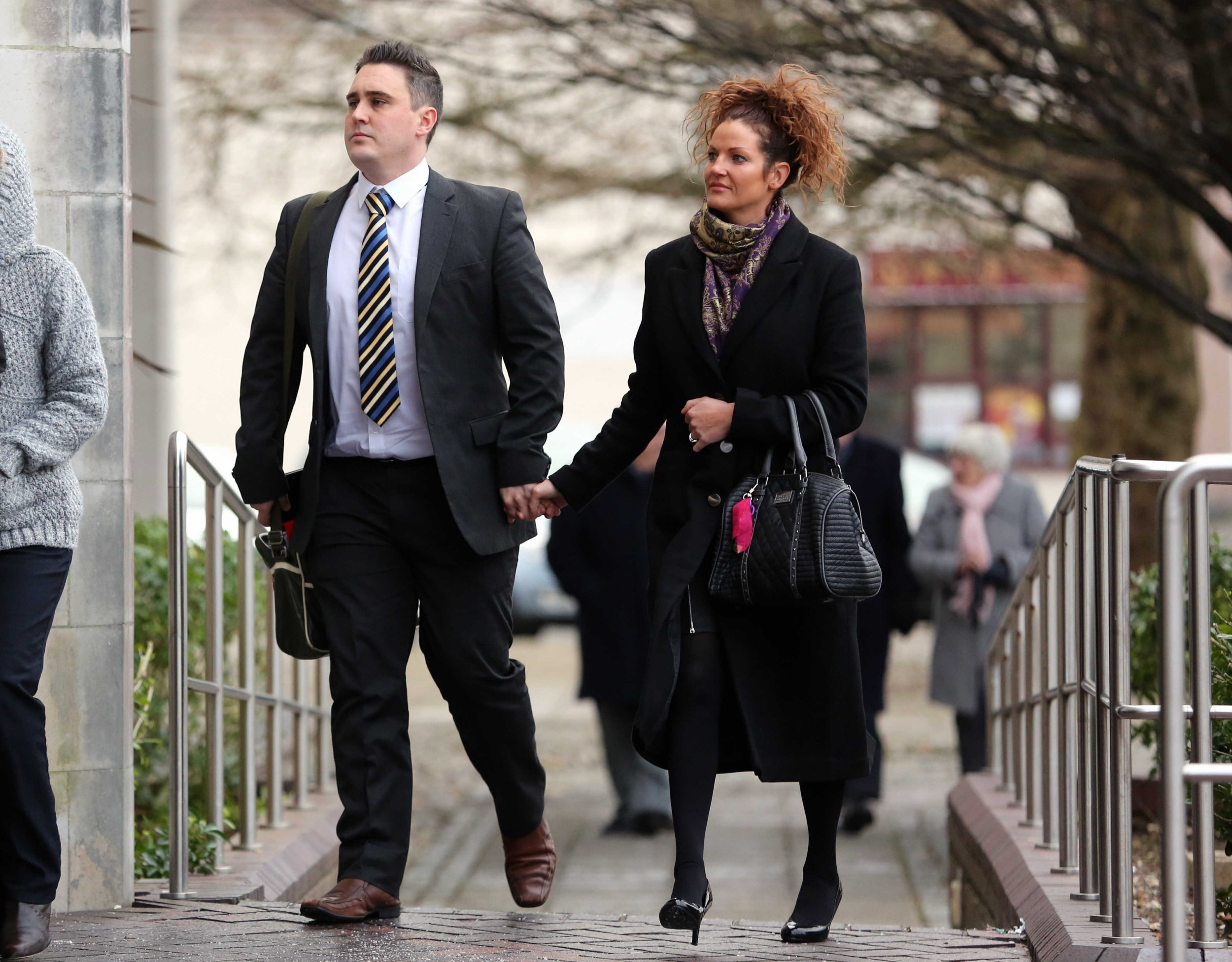 Pictured: School teacher Jonathan Norbury (L) with his wife arriving at Swansea Crown Court. STOCK PICTURE Re: A ruling is expected today on a ìvalued and conscientiousî primary school teacher who had sexual relationships with three underage girls. An Education Workforce Council fitness to practice committee was told Jonathan Mark Norbury was alleged to have had sexual relationships with three girls between 2006 and 2008 while they were under 16. This included inappropriate text messages, kissing and sexual touching, the hearing was told. The ex-teacher, from Swansea, admitted he had a sex with one girl and had given and received oral sex from another while both were under 18. He also said he had had a sexual relationship with the third girl but only after she had turned 18.