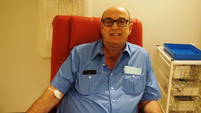 Bob Berry, 60, from Hazel Grove, has been left with no trace of cancer after being one of the first in the world to take part in a new trial at The Christie