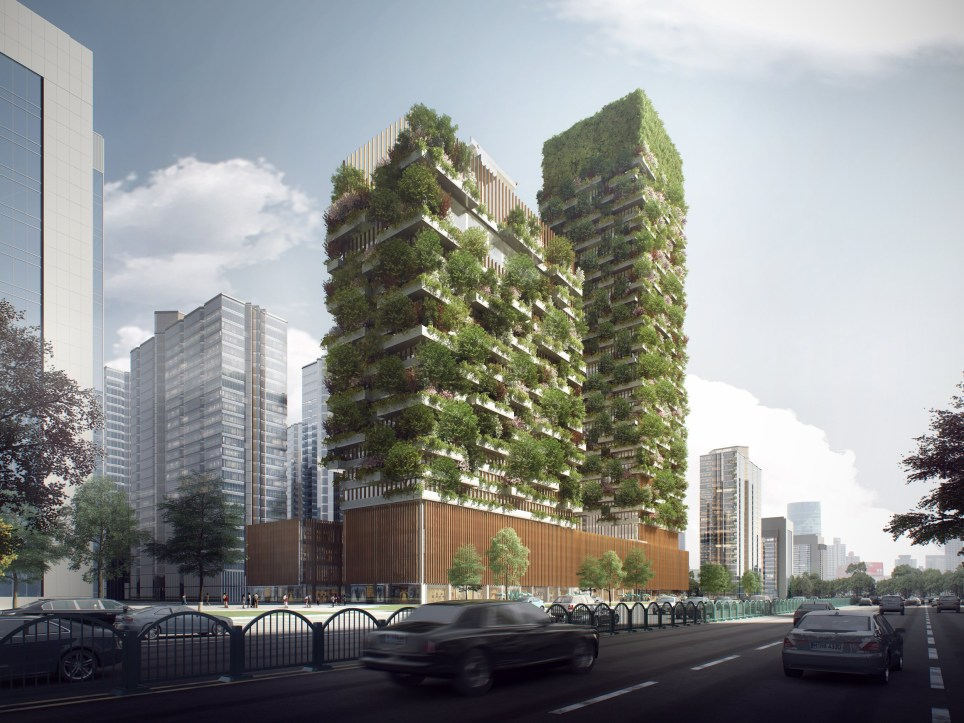 China's vertical forests (credit: Nanjing Project Stefano Boeri)