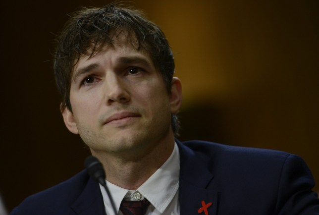 WASHINGTON, DC - FEBRUARY 15: Ashton Kutcher, actor and co-founder of Thorn, speaks about ending modern day slavery before the Senate Foreign Relations Committee at Dirksen Senate Office Building on February 15, 2017 in Washington, DC. (Photo by Leigh Vogel/Getty Images)