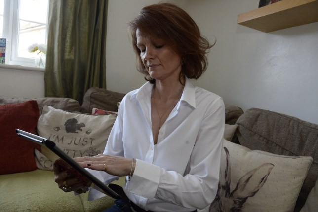 """Anna Rowe, 44 from Rough Common, Kent who was duped by a man on Tinder. See National copy NNTINDER: A spurned lover is calling for the Government to force people to use their real names on dating sites - because she fell for a lying married man. Anna Rowe was seduced on Tinder by a high flying city lawyer for almost a year - before learning the name he had given was fake and that he had a wife and children. The hoaxer, 'Antony Ray' used a picture of a famous Bollywood actor on the dating app and kept their passionate relationship going by repeatedly asking the 44-year-old teaching assistant to marry him. She claims he used her like a """"personal hotel with benefits"""" while making her think he was committed to a loving relationship and even made her call him her husband."""