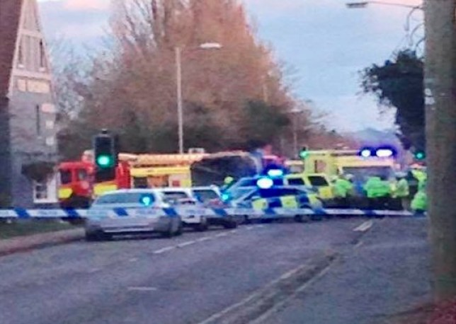 "Please note mandatory credit 'The Swindonian / SWNS' The scene in Swindon where a woman was killed in an incident involving a road sweeper, February 23 2017. See SWNS story SWROAD; Police have appealed for witnesseses after a 32-year-old woman died in Beechcroft Road yesterday. A white road maintenance vehicle was in collision with the woman pedestrian just before 4.30pm near the Arkell's Brewery at the Hyde Road crossroads. A spokesman for Wiltshire Police said: ""A 32-year-old lady from Swindon sadly died at the scene. ""Next of kin have been informed and formal identification will take place in due course."