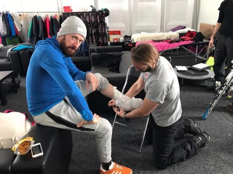 Could Bradley Wiggins quit The Jump over agonising torn calf muscle?