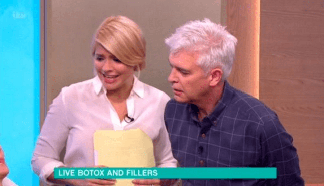 Holly Willoughby looked horrified (PIcture: ITV)