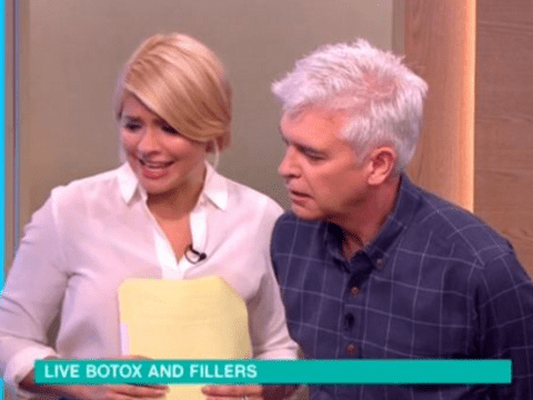 Holly Willoughby shocked as doctor injects botox and fillers live on This Morning