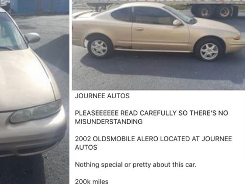 Man posts hilariously honest description in hopes of selling his car