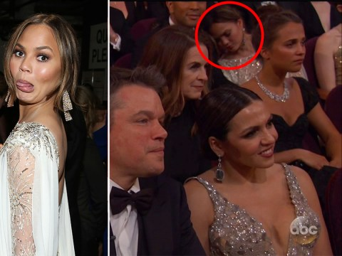 Chrissy Teigen taking a nap during the Oscars is proof that she's our spirit animal