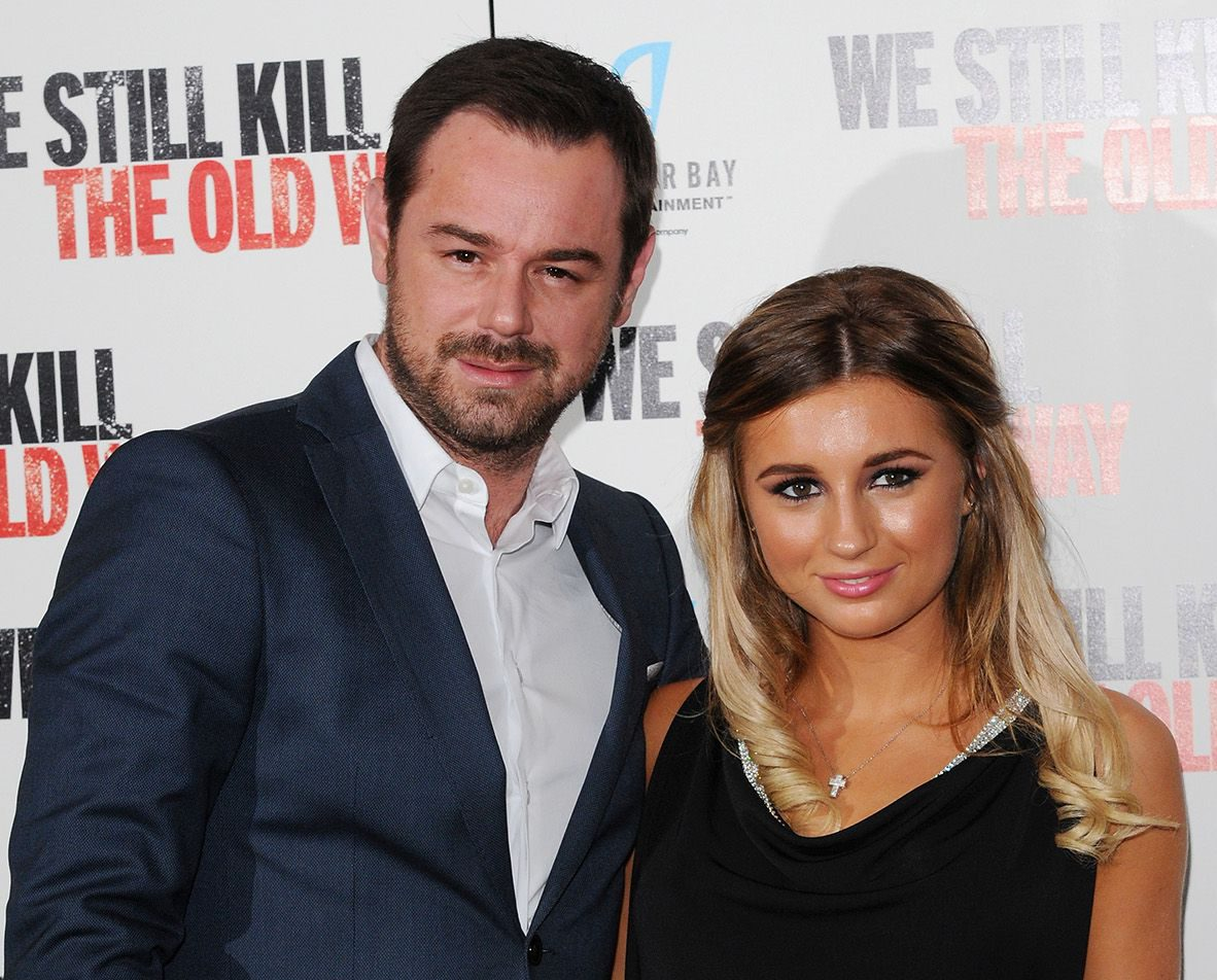 """LONDON, ENGLAND - SEPTEMBER 29: Danny Dyer and daughter Dani Dyer attend a photocall for """"We Still Kill The Old Way"""" at Ham Yard Hotel on September 29, 2014 in London, England. (Photo by Eamonn McCormack/WireImage)"""