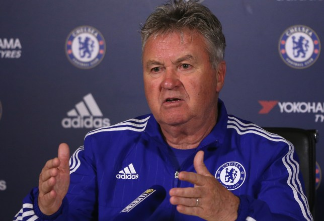 COBHAM, ENGLAND - APRIL 29: Guus Hiddink, the Chelsea manager, is pictured during a press conference at Chelsea Training Ground on April 29, 2016 in Cobham, England. (Photo by Andrew Redington/Getty Images)