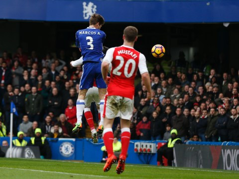 Antonio Conte laughs off Arsene Wenger's claim Marcos Alonso goal should've been disallowed