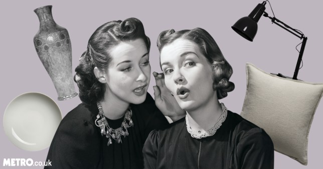 Vintage picture of gossiping women