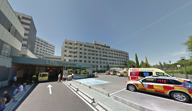 google maps Father jumps out of fourth-floor hospital window holding his one-year-old daughter, killing them both, after arguing with the child's mother and telling her: 'You're going to pay for this with what will most hurt you' La Paz Hospital in Madrid
