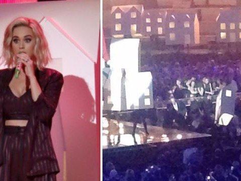 Brit Awards 2017: We can't stop watching Katy Perry's backing dancer falling off-stage