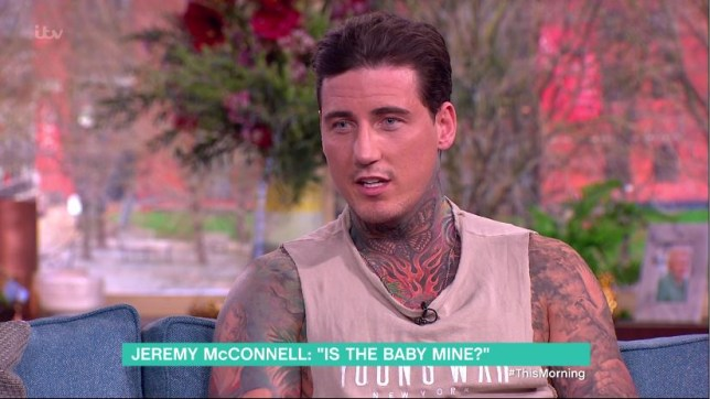 Jeremy McConnell took a DNA test on This Morning (Picture: ITV)