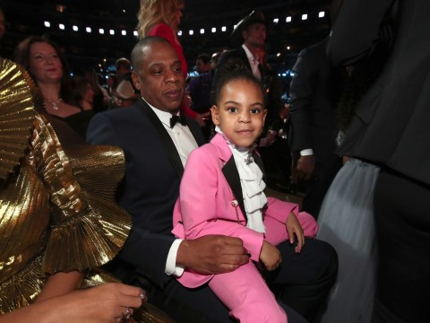 Blue Ivy throwing up the ROC sign during On The Run II tour is the cutest thing you will watch today