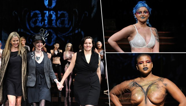 Cancer survivors walk the NYFW runway Picture: Getty Images