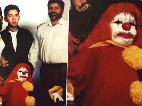 This kid dressed up as a clown for his family photo and people can't handle it