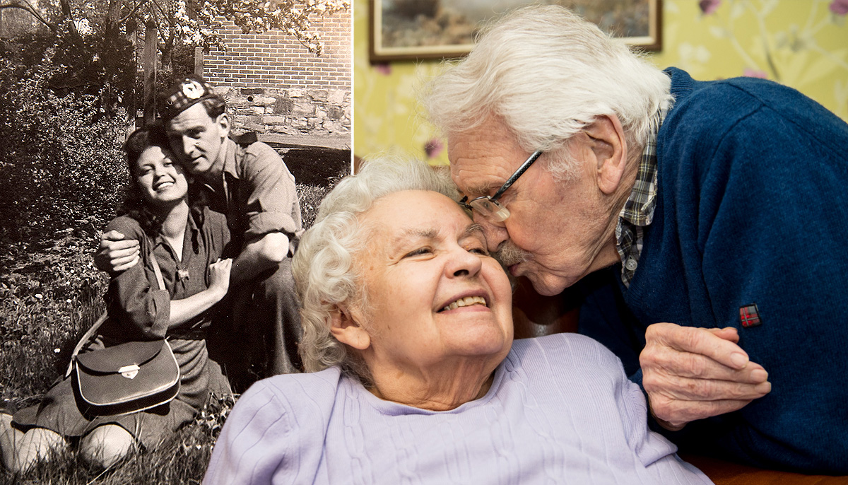 Auschwitz survivor spends 71st Valentine's Day with soldier who rescued her
