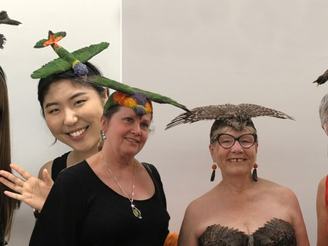 This woman makes roadkill into wearable art